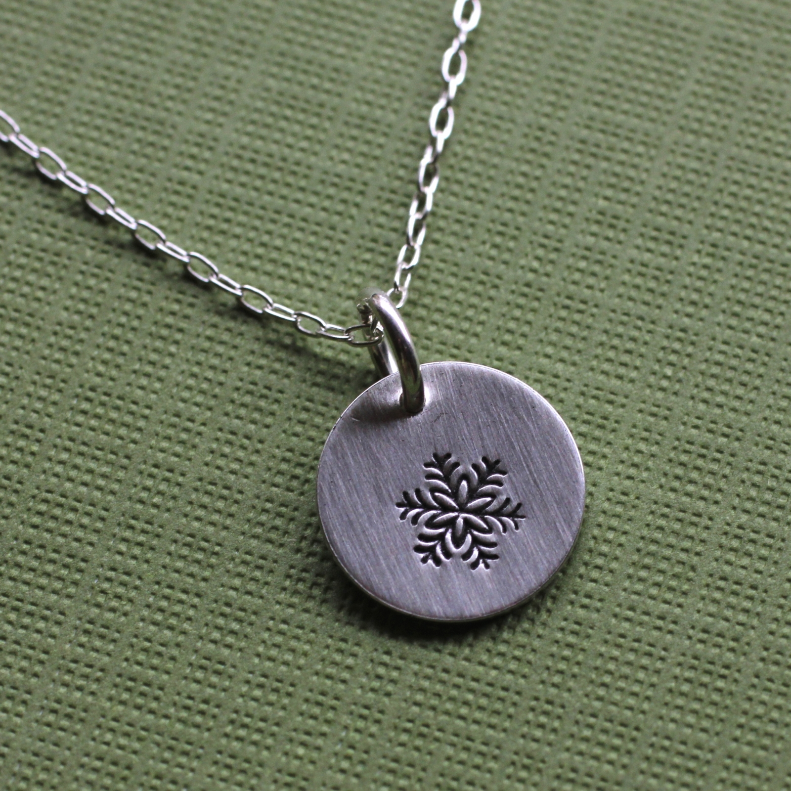 silver jewelry snowflake sterling chain petite az necklace st bling pendant with childrens
