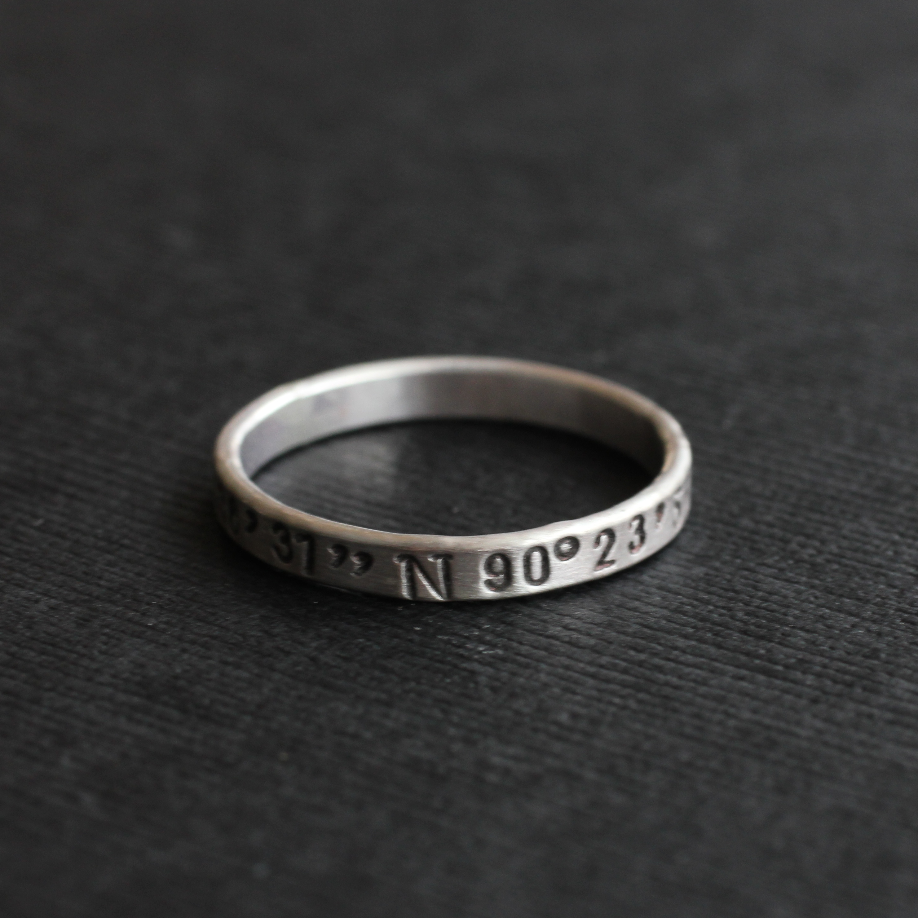 sterling silver personalized coordinate ring ourth
