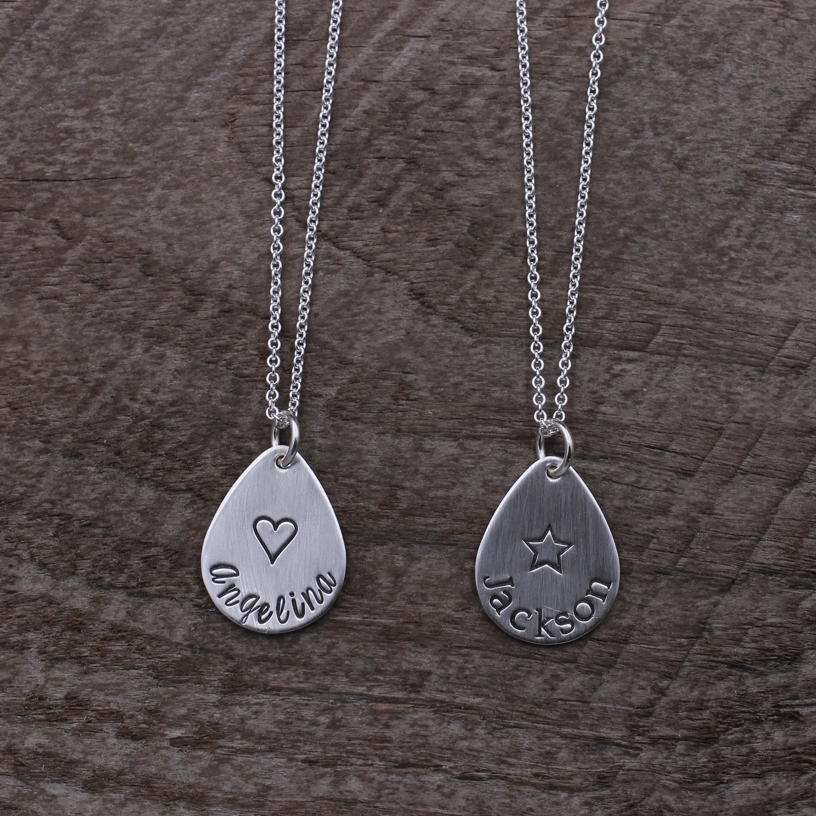 products stamped hand necklace bar introvert hearts wanderlust